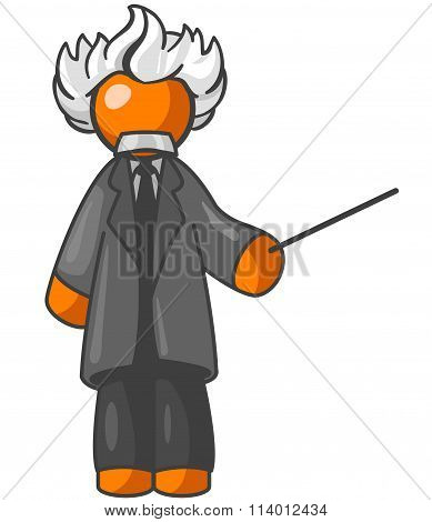 Orange Man Einstein