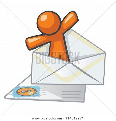 Orange Man Messaging Contact Form Graphic