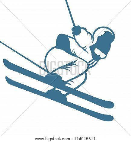 Ski resort logo emblems, labels badges vector elements
