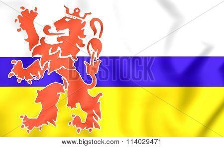 Flag Of Limburg, Netherlands.