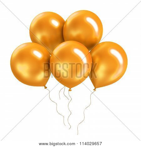 Bunch of bright colorful shiny ballon