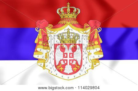 Kingdom Of Serbia Flag (1882-1918)
