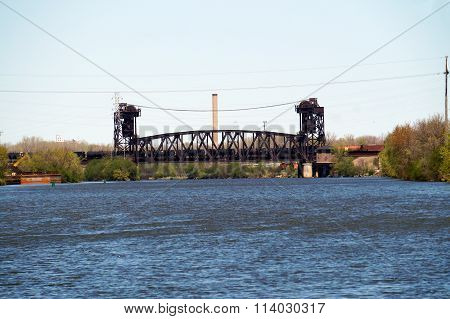Train Crosses Bridge