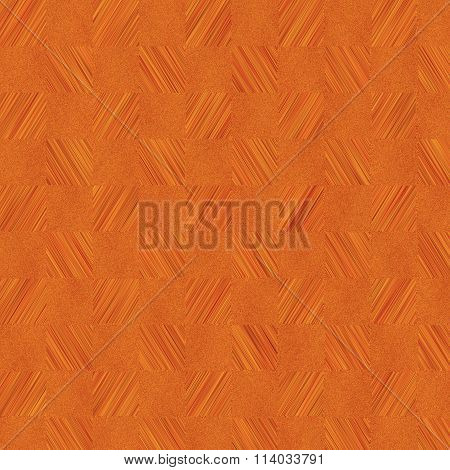 Linoleum Or Parquet Covering Surface Pattern In Orange And Brown Colors