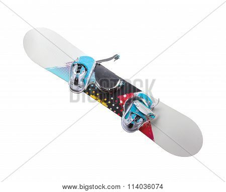 Old Snowboard Isolated