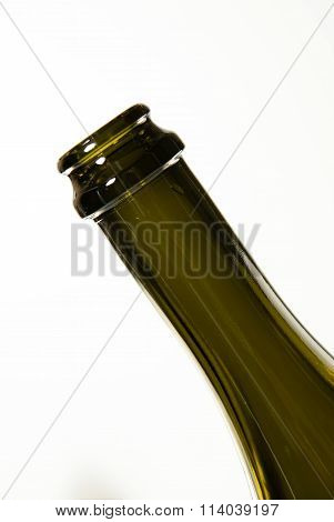 The Neck Of A Wine Bottle On White