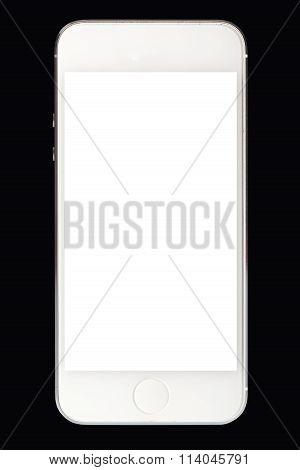 White Smart Phone Isolated
