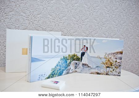 Luxury White Leather Wedding Photo Album And Photo Book