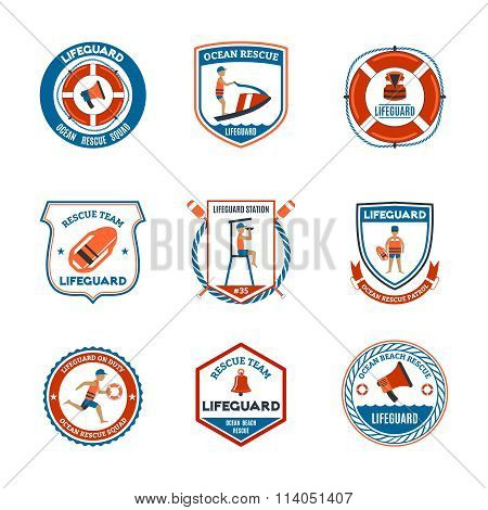 Lifeguard Emblems Set