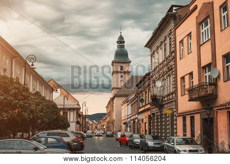 Kosice street in city center