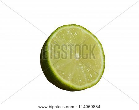 Half a lime isolated