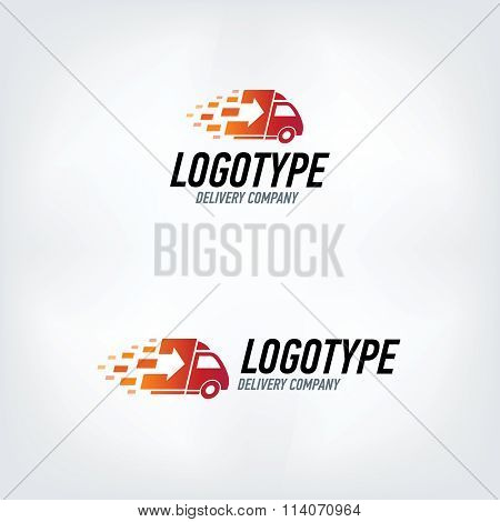 Delivery company logo. Fire logotype