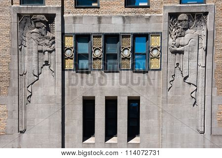 Art Deco Building Sculpture