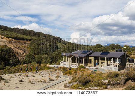 Waihohonu Hut on Tongariro Norther Circuit