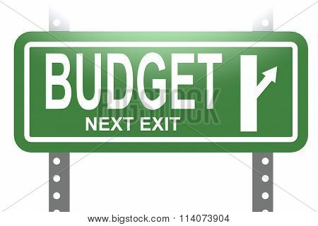 Budget Green Sign Board Isolated