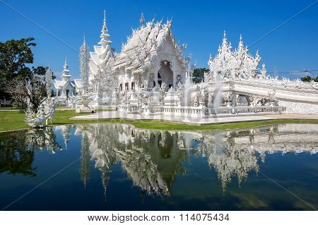 The White Temple, Or Wat Rong Khun, In Chiang Rai, Thailand