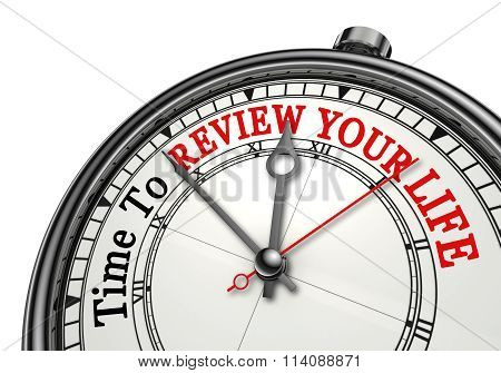 Time To Review Your Life Concept Clock