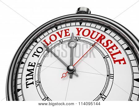 Time To Love Yourself Motivational Concept Clock
