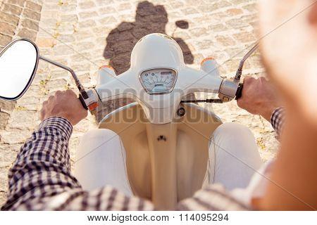 Close Up Photo Of Bike's Speedo