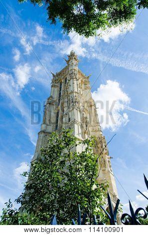 Tower of tour Saint Jacques in Paris
