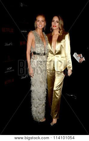 LOS ANGELES - JAN 10:  Heidi Klum, Louise Roe at the Weinstein Company & Netflix 2016 Golden Globe After Party at the Beverly Hilton on January 10, 2016 in Beverly Hills, CA