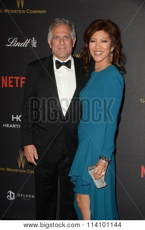 LOS ANGELES - JAN 10:  Les Moonves, Julie Chen at the Weinstein Company & Netflix 2016 Golden Globe After Party at the Beverly Hilton on January 10, 2016 in Beverly Hills, CA