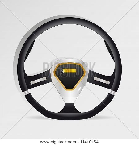 Steering wheel - vector illustration