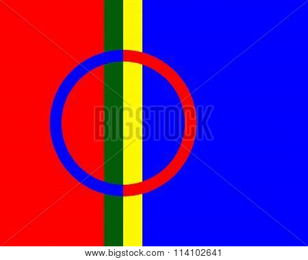 The Sami or Lapps adopted flag to represent themselves