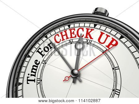 Time For Check Up Concept Clock