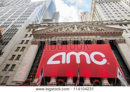 New York - DECEMBER 18, 2013: AMC IPO on New York Stock Exchange