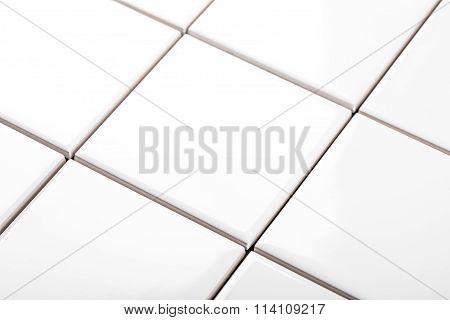 Background Of White Ceramic Tiles