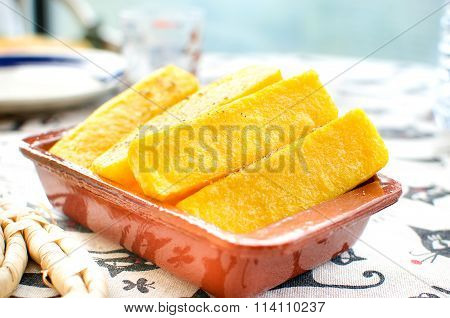 Baked Cornmeal Slices