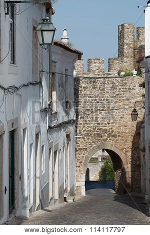 Street inside the castle of Estremoz