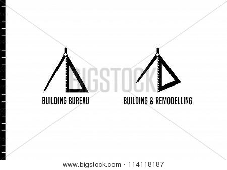 Set of house building and remodeling vector logotypes