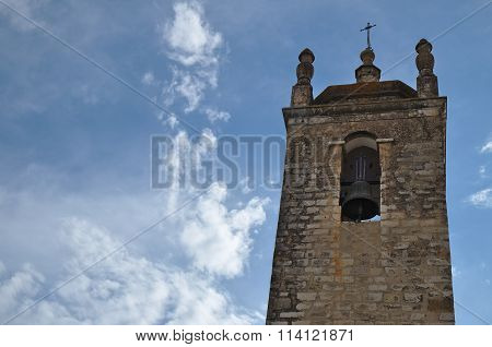 Bell tower of Matriz church in Loule