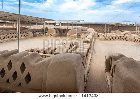 The ancient ruins of Chan Chan in Peru