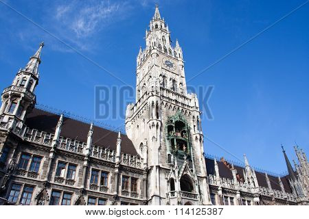 City Hall In Munich, Marienplatz
