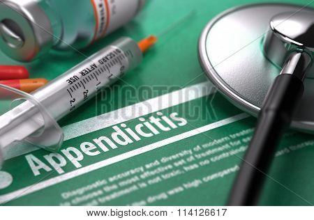 Diagnosis - Appendicitis. Medical Concept.