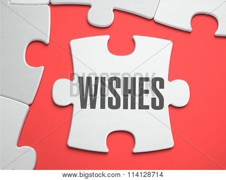 Wishes - Puzzle on the Place of Missing Pieces.
