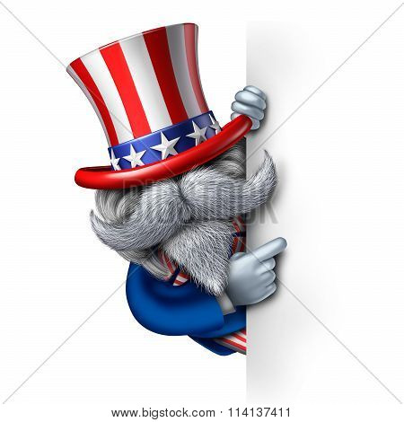 Uncle Sam Character Sign