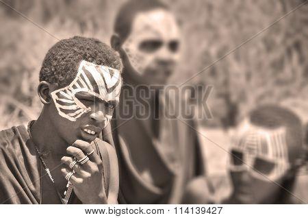 Young Masai men
