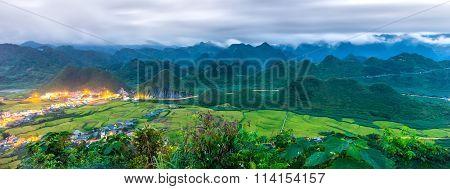 Double Mountain Quan Ba dusk