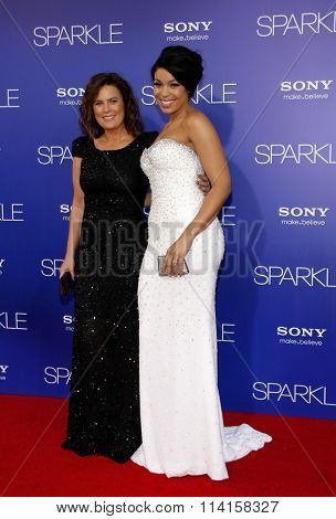 LOS ANGELES, CALIFORNIA - August 16, 2012. Jordin Sparks at the Los Angeles premiere of 'Sparkle' held at the Grauman's Chinese Theatre, Los Angeles.