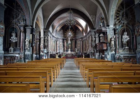 Inside Saint Jacques Church