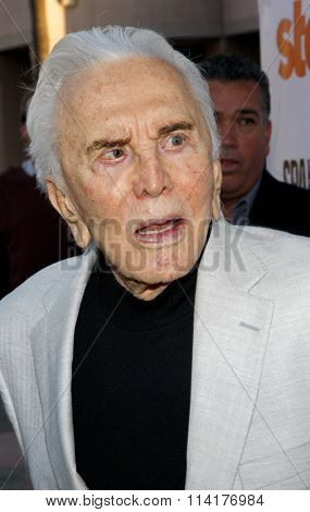 Kirk Douglas at the Starz Celebrates Kirk Douglas held at the Academy of Television Arts & Sciences Goldenson Theater in Los Angeles, California, United States on May 31, 2012.