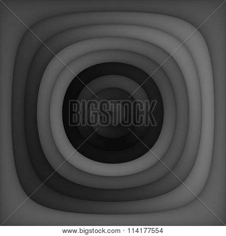 Raster Greyscale Gradient Concentric Circles Dark Abstract Background