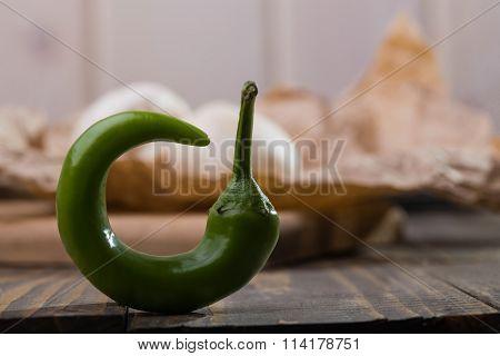 One Green Chili Pepper