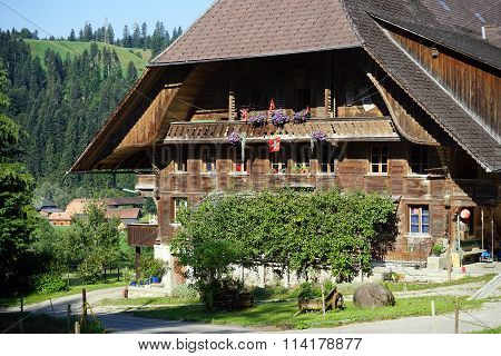 Traditional Wooden Farm House