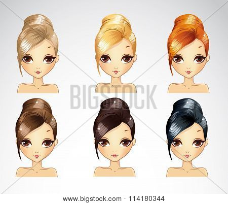 Bisness Smooth Hairstyle Set
