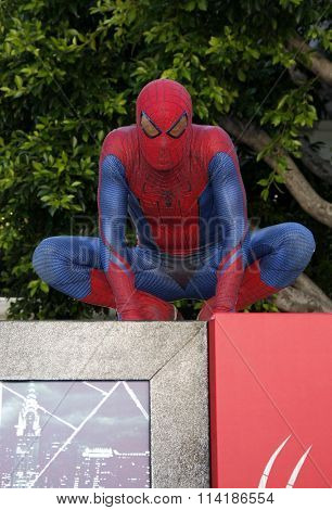 LOS ANGELES, CALIFORNIA - June 28, 2012. Spider-Man at the Los Angeles premiere of